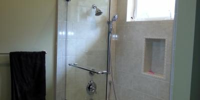 shower screen with towel bar