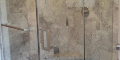 1/2 glass shower door